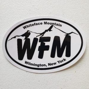 WFM car sticker, Whiteface Mountain, Wilmington