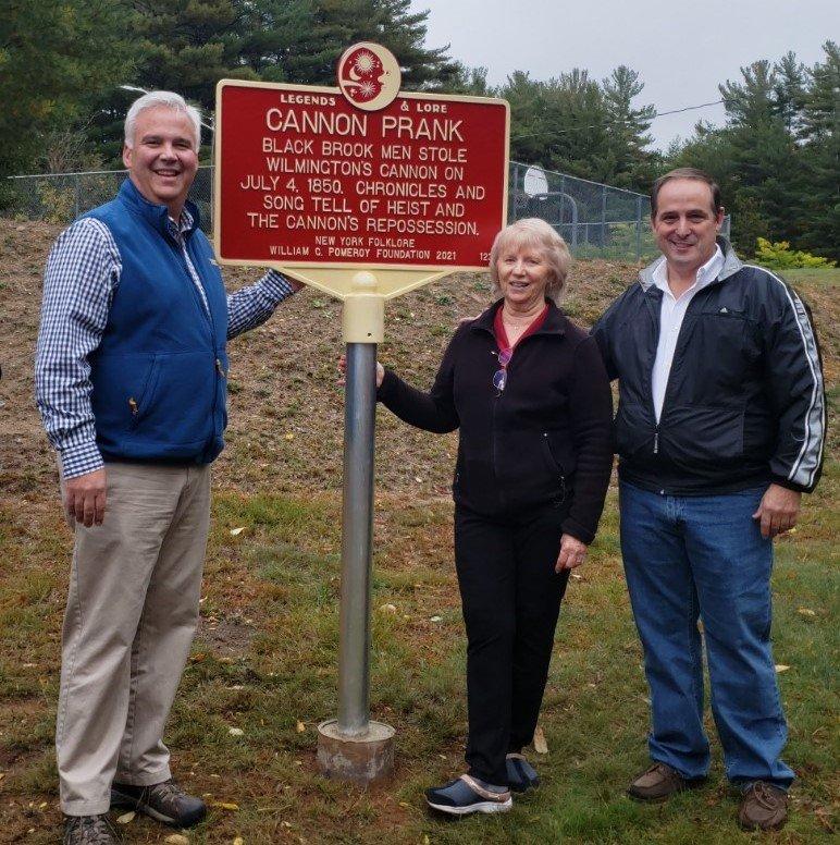 New York State assemblyman Matt Simpson, Karen Peters and Town Supervisor Roy Holzer