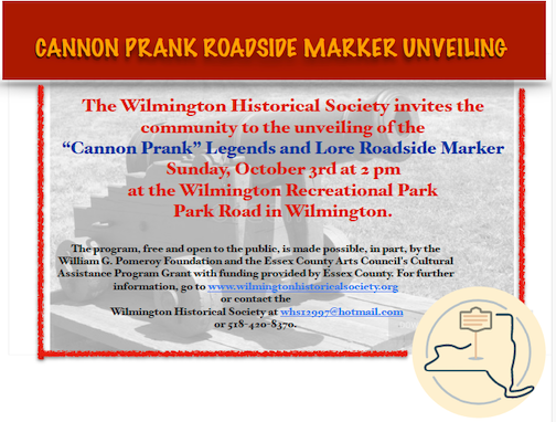 """Unveiling of the """"Cannon Prank"""" Legends and Lore Roadside Marker"""